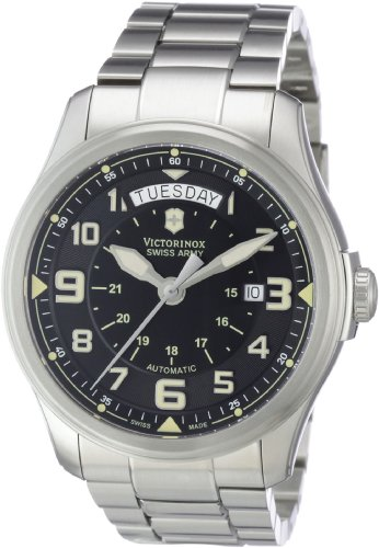 Swiss Army Date Wrist Watch - Victorinox Swiss Army Men's 241375 Infantry Vintage Day and Date Mecha Watch