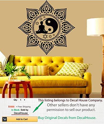 Amazon.com: Boho adhesivos de pared Lotus calcomanía de ...