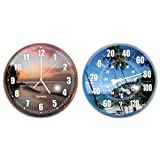 Solstice by International Leisure Products Hydro Tools 9260 Poolside Wall Clock and Thermometer Combo Set (Assortment)