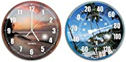 Solstice by International Leisure Products Hydro Tools 9260 Poolside Wall Clock and Thermometer Combo Set (Ass