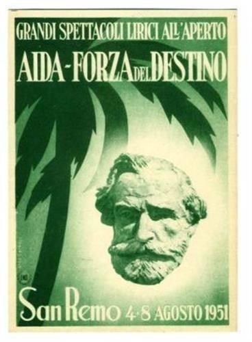 AIDA & Forza Del Destine San Remo Italy 1951 Opera Postcard
