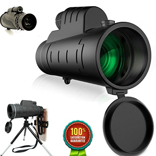 High Power Monocular Telescope - Premium 12×50 Monocular scope With Upgraded Smartphone Adapter and Tripod -Waterproof ShockProof , Best BAK4 Prism - For Bird Watching , Hunting , Camping , Wildlife