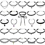 Leiothrix Chocker Necklace Set for Women and Girls 24pcs Apply to Party Wedding Holiday