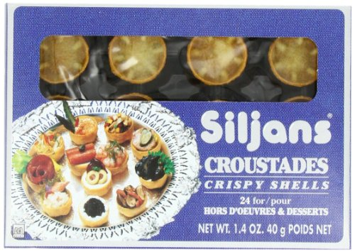 Siljans Croustades (Crispy Shells), 1.4-Ounce Boxes (Pack of 6)