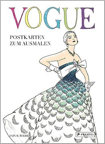 Vogue Postkarten Zum Ausmalen Postkartenbuch Mit 24 Motiven Zum