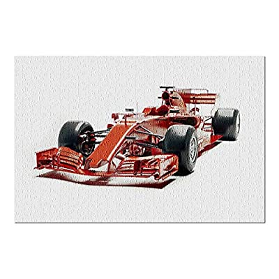 F1 Race Car in Red 9008026 (Premium 500 Piece Jigsaw Puzzle for Adults, 13x19, Made in USA!): Toys & Games