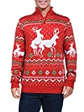 Product review for Tipsy Elves Men's Christmas Climax Sweater - Funny Humping Reindeer Ugly Christmas Sweater