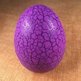 Loveje Crack Egg Pet Electronic Game Console Tumbler Toys Virtual Digital for Keychain (Purple)