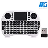 Cesert® Mini 2.4GHz Wireless 3 in 1 Keyboard with Mouse Touchpad for Android/PS3/Xbox 360/TV Box/PC with Windows OS, Mac, Linux, Battery Included(White)
