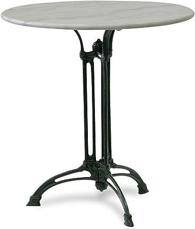 Top Gartentisch Gastro mit Marmorplatte Outdoor mit Gussfuss Tisch Ø 60cm NEU