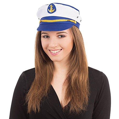 Bristol Novelty BH489 Lady Captain Hat, Multi-Colour, One Size