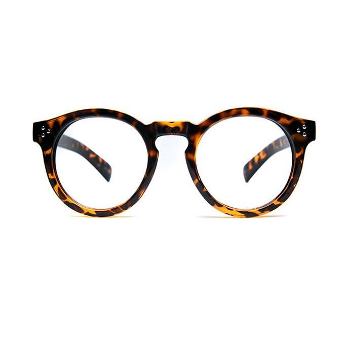 8eff0c5757 buykorea Carino rotondo Oliver Retro 1203 Tiger Skin Occhiali da ...