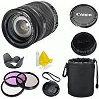 Canon EF-S 18-200mm f/3.5-5.6 IS Celltime Premium Zoom Lens Kit for Canon EOS 7D, 60D, EOS Rebel SL1, T1i, T2i, T3, T3i, T4i, T5i, XS, XSi, XT, XTi Digital SLR Cameras (White Box) At A Glance Review Image