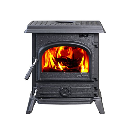 HiFlame EPA-Approved 37,000 BTU Freestanding Wood Stove H...