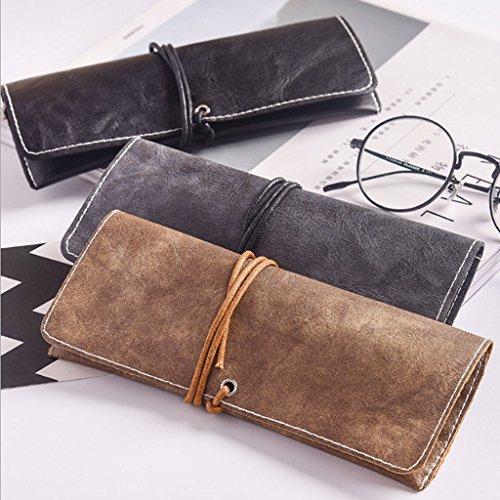 Etui Portable Ultralight Similicuir Protection Vintage Pour Marron Eyewear Zoomy Lunettes En d0qwdga