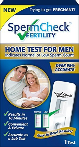 SpermCheck Fertility Home Sperm Test Kit | Indicates Normal or Low Sperm Count | Convenient, Accurate and Private | Easy To Read Results in 10 - Easy Clearblue Sticks Monitor