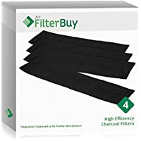 4 - FilterBuy Honeywell K Filters, HRF-K2 Replacement Charcoal Filters. Designed by FilterBuy to be Compatible with Honeywell AirGenius Air Purifiers.