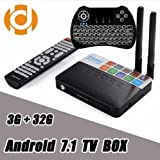 (with Backlit Keyboard) CSA93 Android 7.1 TV Box 3GB 32GB Amlogic S912 Octa Core 3D 4K Streaming Media Player WiFi 1000M BT Smart Mini PC