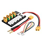 HITSAN 4CH Parallel Charging Board XT60 Banana Plug For ISDT D2 Q6 T6 Lite Imax B6 Charger One Piece