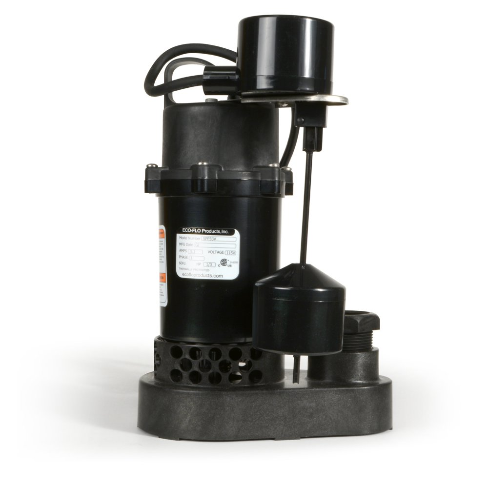 ECO-FLO Products SPP33V Thermoplastic Sump Pump with Vertical Switch, 1/3 HP, 3,600 GPH by ECO-FLO Products (Image #8)