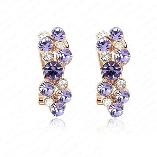 Lion King Costumes Broadway (18K Gold Plated Womens Girls Earrings Purple - Aooaz Jewelry)