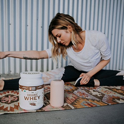 Natural Force® Undenatured Organic Whey Protein Powder *UNFLAVORED* Grass Fed Whey from California Farms – Raw Organic Whey, Paleo, Gluten Free, Natural Whey Protein, 13.76 oz. Bulk by Natural Force (Image #1)'