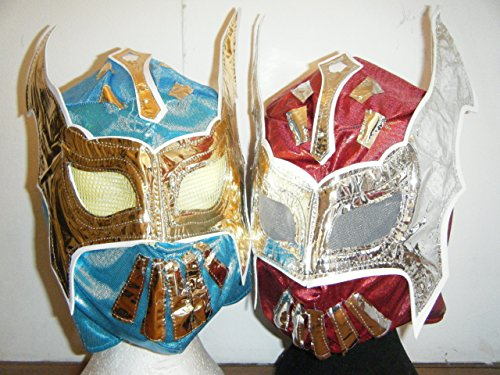 ASHLEYS Sin Cara Blue And Sin Cara Red Set Masks - Rey Mysterio Halloween Costumes