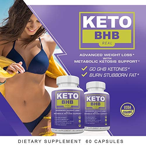 Keto BHB Real - Advanced Weight Loss wqth Metabolic Ketosis Support - 60 Capsules - 30 Day Supply 5
