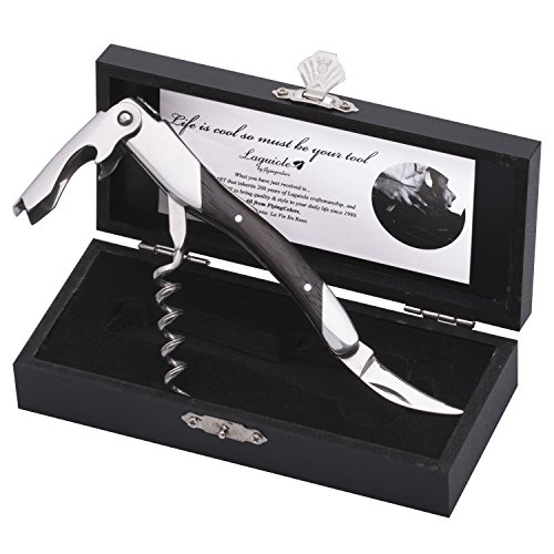 FlyingColors Laguiole Sommelier Professional Waiter's Corkscrew, Wenge Wood Handle, Wooden Gift (Laguiole Bottle Opener)