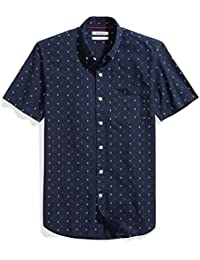 Men's Slim-Fit Short-Sleeve Printed Shirt