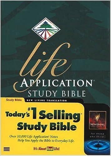 Amazon Com Applicationhelp >> Life Application Study Bible New Living Translation