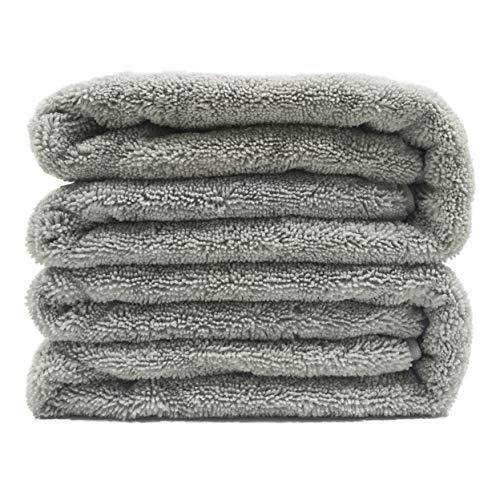 Polyte Premium Quick Dry Lint Free Microfiber Bath Sheet, Set of 2 (Gray, 35x70) (Sheets Bath Towels)