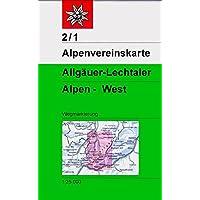 Allgäuer-Lechtaler-Alpen - West: Topographische Karte 1:25.000 (Alpenvereinskarten)