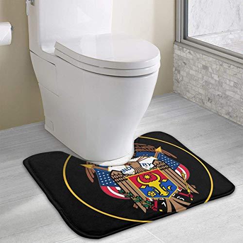 Bennett11 Moldova Coat of Arms Toilet Carpet Anti-Slip Contour Bath Rug Carpet Mat for Toilet 19.2″x15.7″