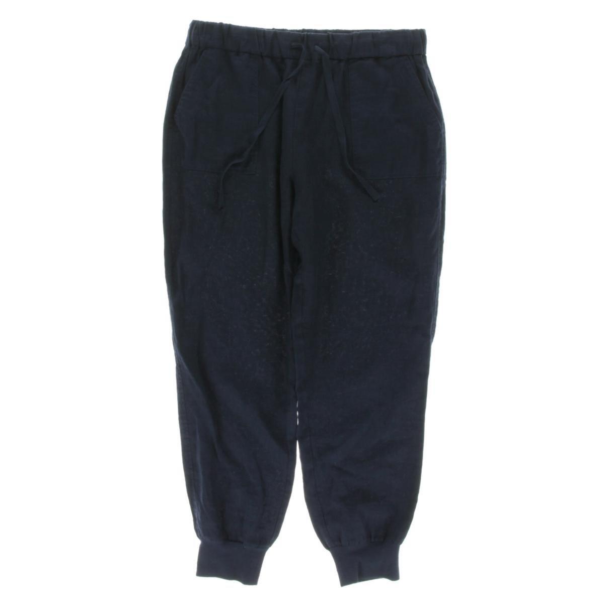 Joie Women's Stuva Linen Pant, Dark Navy, Medium by Joie