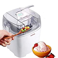Features: 1. Removable double isolation bowl 2. Large 1.5-Quart capacity 3. Extra large ingredient funnel 4. Motor with left and right motion 5. Reversible thermostat built in the unit 6. Ice cream and sorbet produced in 15 to 25 minutes 7. E...