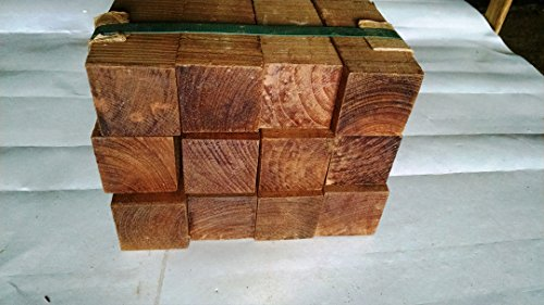 12 Pack of Beautiful 2 inch square Teak Turning Spindle Wood. 18.75 inches long. by Woodchucks Wood
