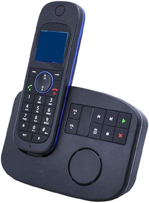 TTZB Teléfono inalámbrico Digital expandible, contestador automático montado en la Pared, teléfono Fijo, Negro, monitoreo Remoto, premarcación de Llamada, Llamada tripartita, 2.4GHz: Amazon.es: Hogar
