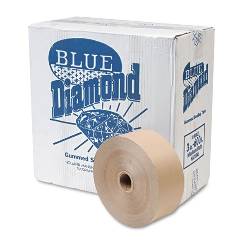 United Facility Supply 2800 Gummed Kraft Sealing Tape, Non-Reinforced, 3 x 600 ft, 10 Rolls per Carton