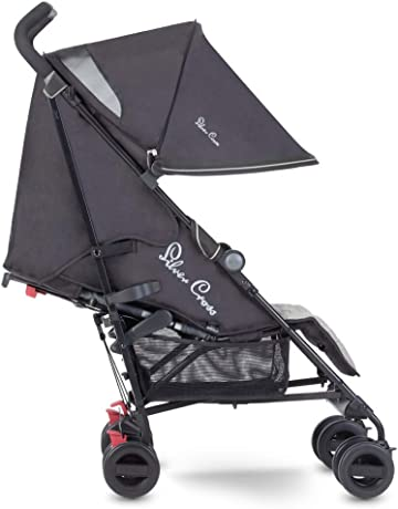 Silver Cross Zest Stroller, Compact and Lightweight Pushchair, Silver