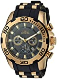 Invicta Men's Pro Diver Stainless Steel Quartz Watch with Silicone Strap, Two Tone, 26 (Model: 22344)