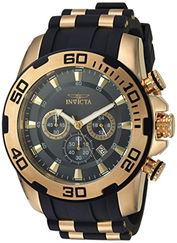(Invicta Men's Pro Diver Stainless Steel Quartz Watch with Silicone Strap, Two Tone, 26 (Model: 22344)