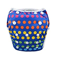 Babygoal Baby Swim diapers, Babygoal Reuseable Washable and Adjustable for Swimming, Outdoor Activities and Daily Use, Fit Babies 0-2 Years SWD49-CA