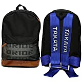 Bride JDM Racing Backpack Racing Harness Shoulder Straps Zipper Pockets w Padded Computer Compartment