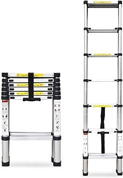 Escaleras Escalera plegable de aluminio portátil de 8 escalones, escalera de tijera, escalera de tijera, escalera telescópica multiusos Extender - Portátil plegable (2.6M) for la oficina de Loft en el: Amazon.es: Bricolaje