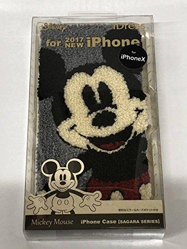 2018 ミッキー マウス サガラ 刺繍 iPhone X用 手帳型スマートフォンケース ダッフィー ハロウィン ステラルー スマホケースの商品画像