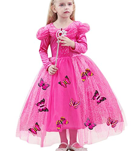 Halloween Costumes Girls Baby Girls Cinderella Dress up Cosplay Party Princess Dress Butterfly Butterfly Skirt 3-12Y for $<!--$20.99-->