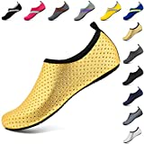 VIFUUR Unisex Quick Drying Aqua Water Shoes Pool Beach Yoga Exercise Shoes for Men Women