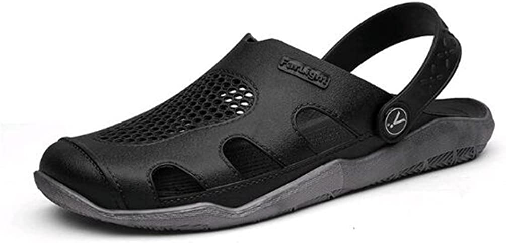 Marolaya Mens Large Size Hollow Beach Hole Shoes Trend Sandals and Slippers