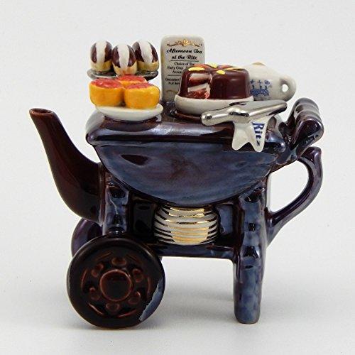 Jim Baileys Miniature Novelty Teapot -Mini Desert Cart at the Ritz